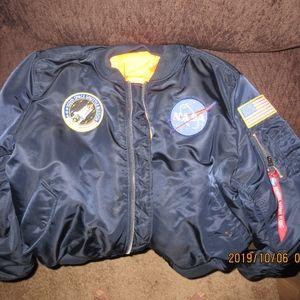 """Navy Blue """"NASA"""" Bomber jacket"""